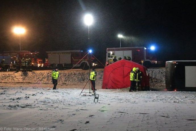 Unfall Reisebus B10 Kreuzung Tomerdingen 27022020 8
