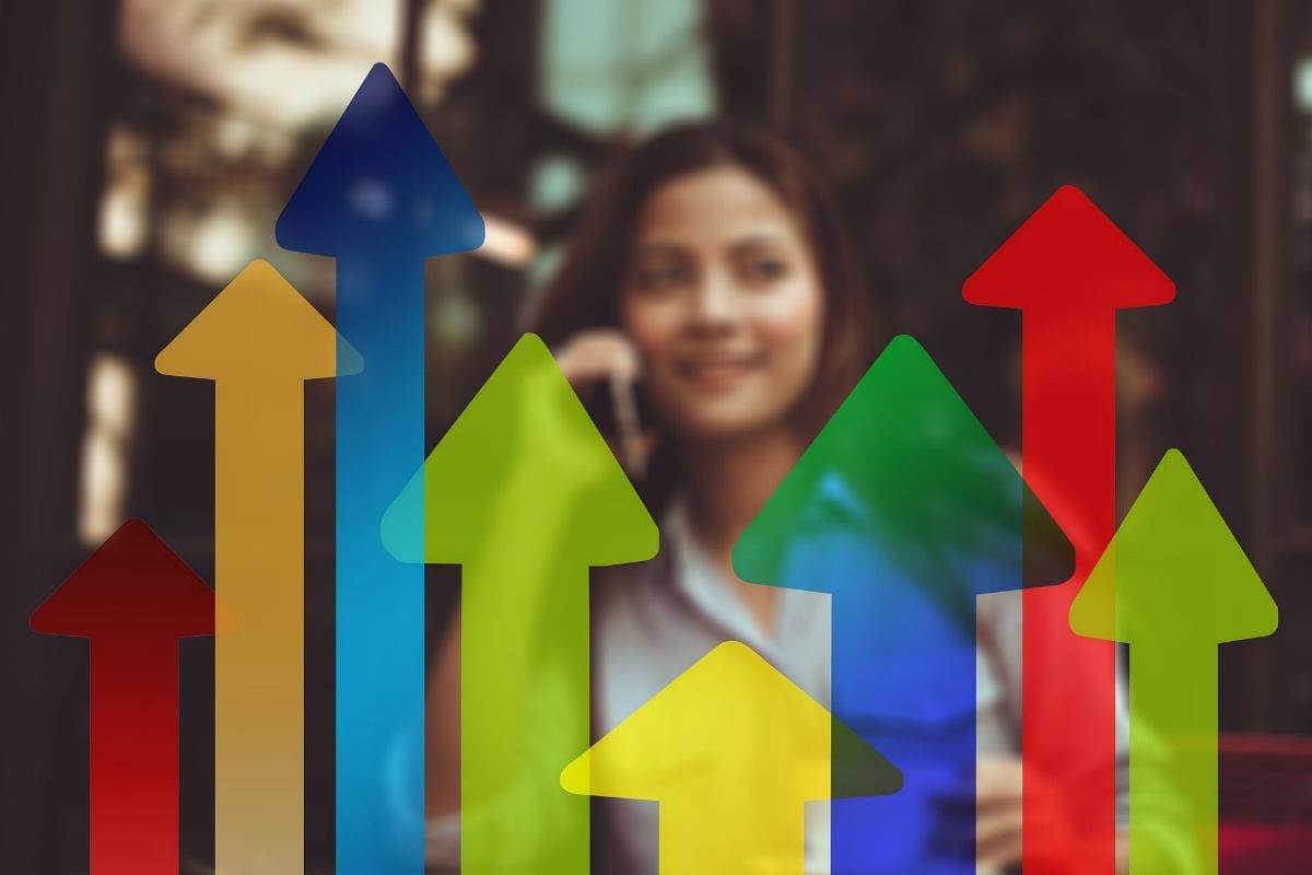 Wirtschaft Wachstum Pfeile