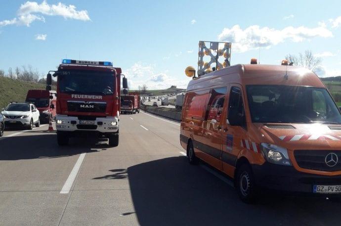 Lkw Pkw Unfall A8 Limbach 13032020 8
