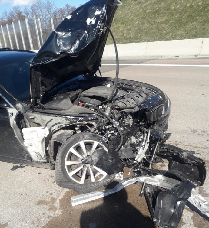 Lkw Pkw Unfall A8 Limbach 13032020 9