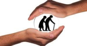 Senioren Schutz Haende