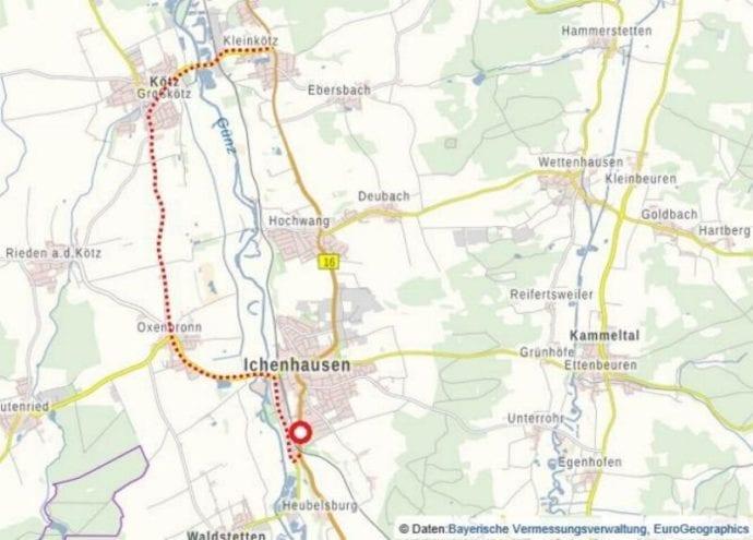 Umleitungsskizze_B16_Ichenhausen