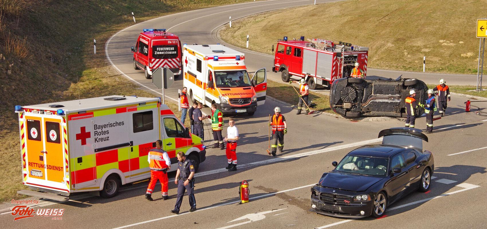 Unfall B300 Ziemetshausen 18032020 6