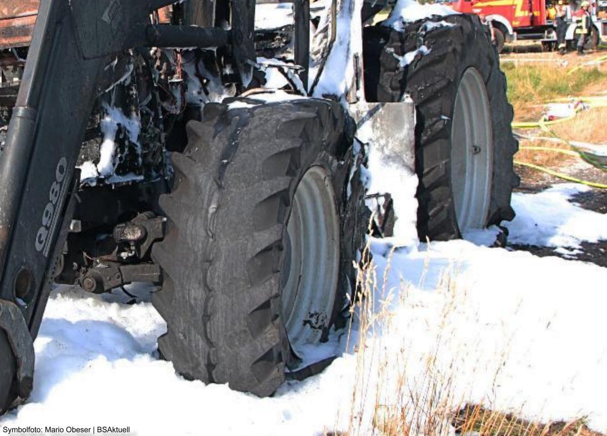 Brand-Traktor