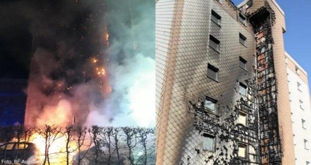Haunstetten Brand Wohnhaus Fassade