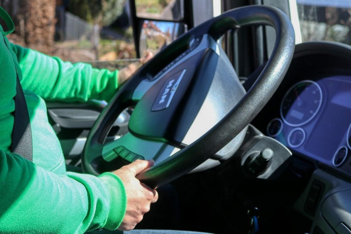 Lkw-Fahrer Trucker Lenkrad