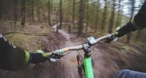Radfahrer Waldweg Feldweg