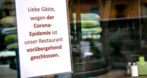 Restaurant wegen Corona geschlossen
