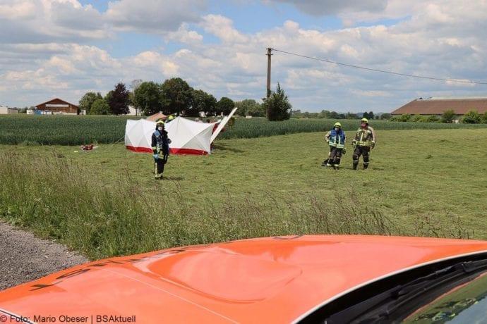 Absturz eines Segelfliegers in Günzburg – Pilot sirbt