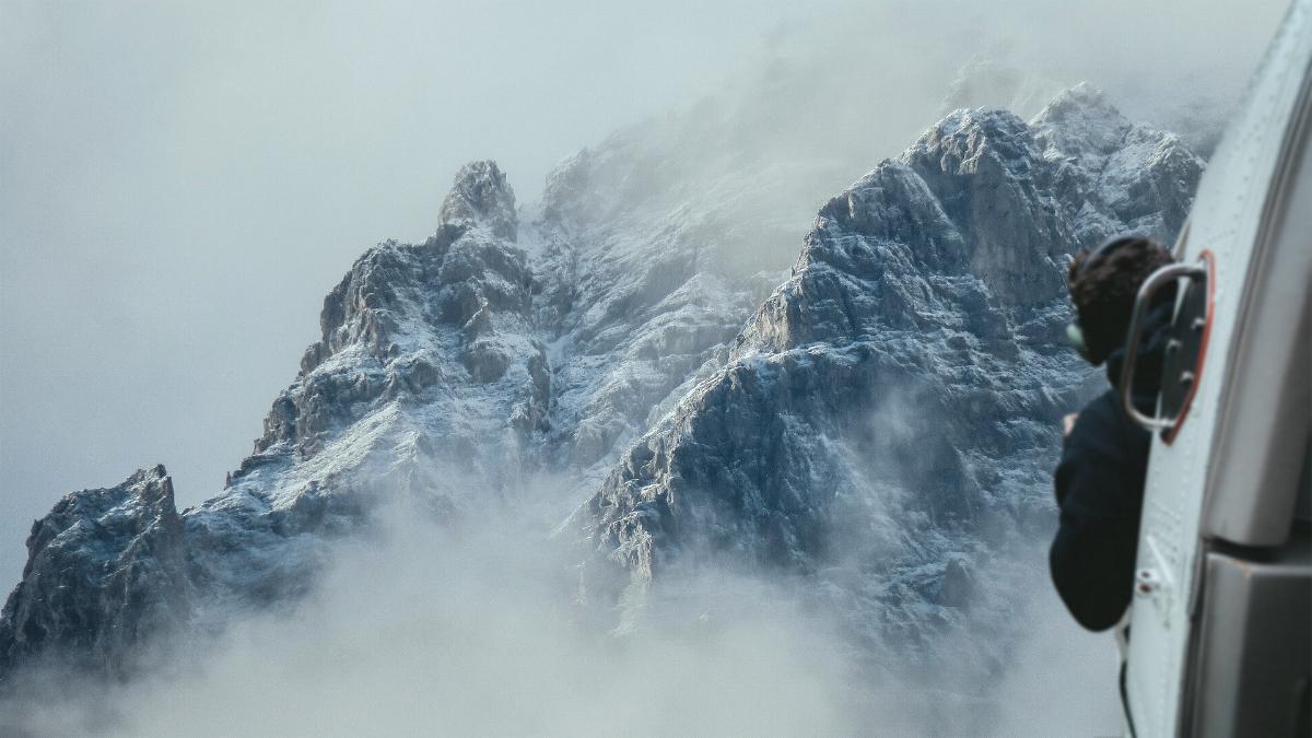 Hubschrauber Berge Bergrettung