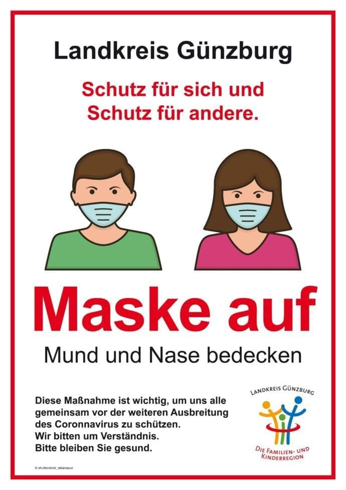 Maske auf – Maskenpflicht