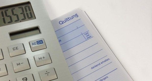 Rechnung Quittung Taschenrechner