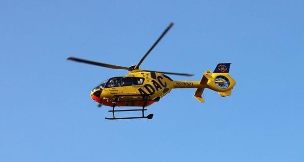 Rettungshubschrauber im Flug