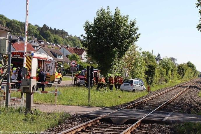 Unfall Oberelchingen Bahnübergang 19052020 3