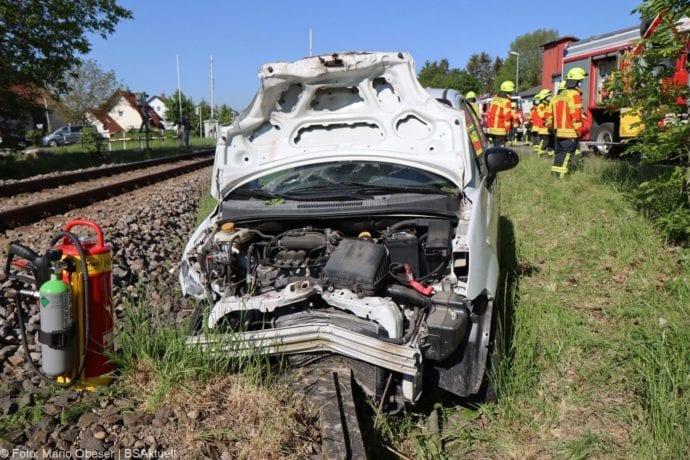 Unfall Oberelchingen Bahnübergang 19052020 4
