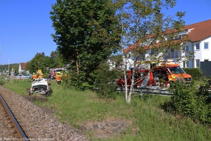 Unfall Oberelchingen Bahnübergang 19052020 6