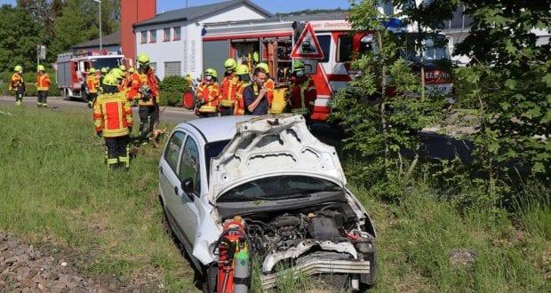 Unfall Oberelchingen Bahnübergang 19052020 7