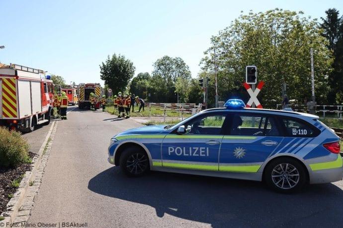 Unfall Oberelchingen Bahnübergang 19052020 9