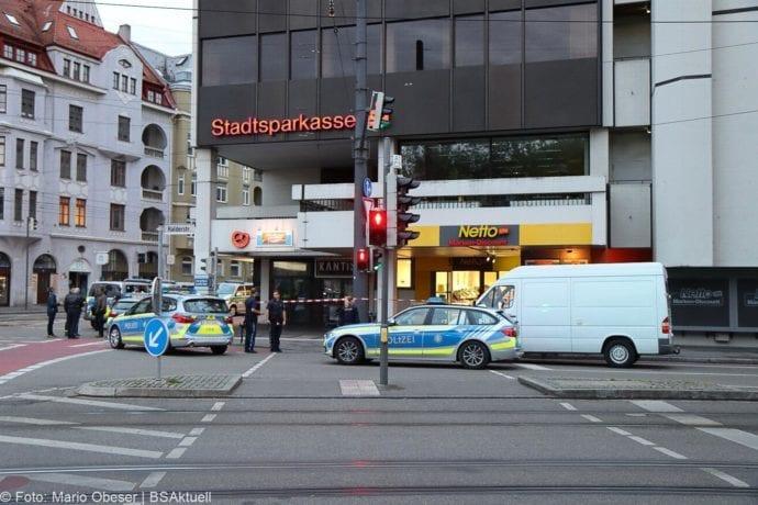 Augsburg Ladendieb Polizei angeschossen 19062020 2