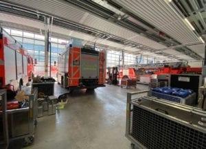Feuerwache Guenzburg Fahrzeughalle 3