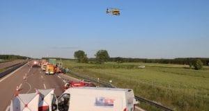 Unfall A8 Burgau-Zusmarshausen Transporter auf Lkw 02062020 5