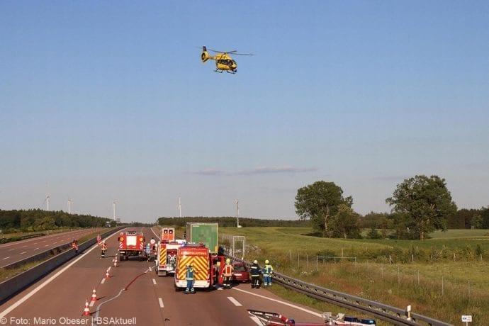Unfall A8 Burgau-Zusmarshausen Transporter auf Lkw 02062020 6
