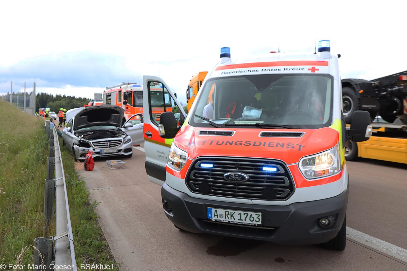 Unfall A8 Zusmarshausen-Adelsried 11062020 5