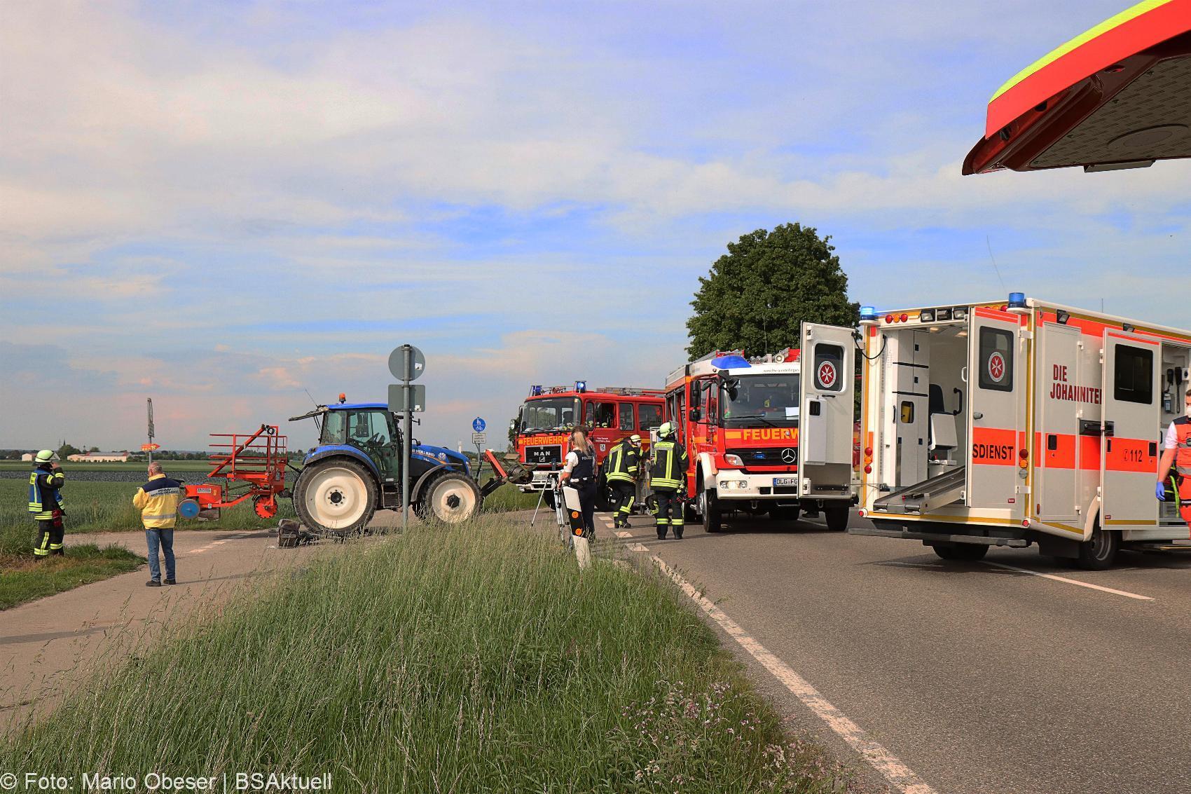 Unfall B16 Gundelfingen Traktor übersieht Pedelec-Fahrer 03062020 14