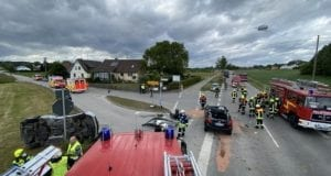 Unfall ST2025 Münsterhausen – Hagenrieder Kreuzung 05062020 18
