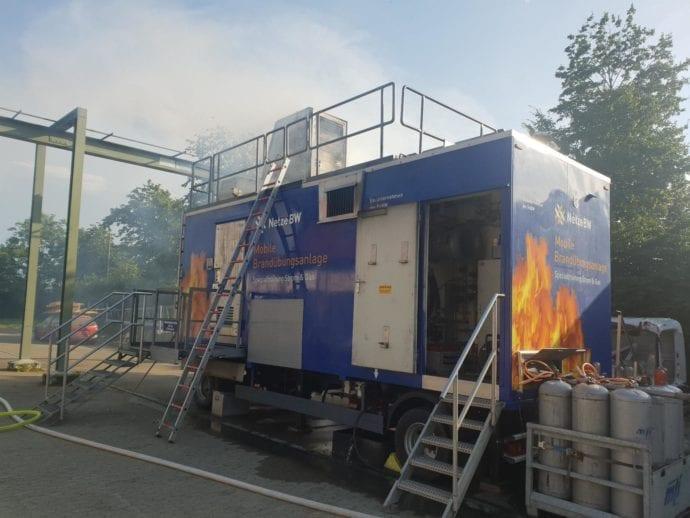 Branduebungscontainer Guenzburg Netze BW 2