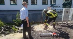 Modulare Truppausblindung Feuerwehr Guenzburg Juli 2020