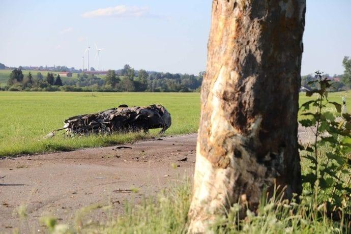 Pkw gegen Baum Aitrang Person verbrennt 29072020 5