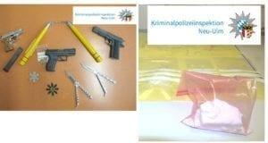 Sicherstellung Kokain Waffen Raum Guenzburg