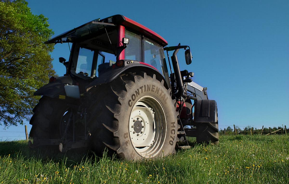 Traktor abgestellt