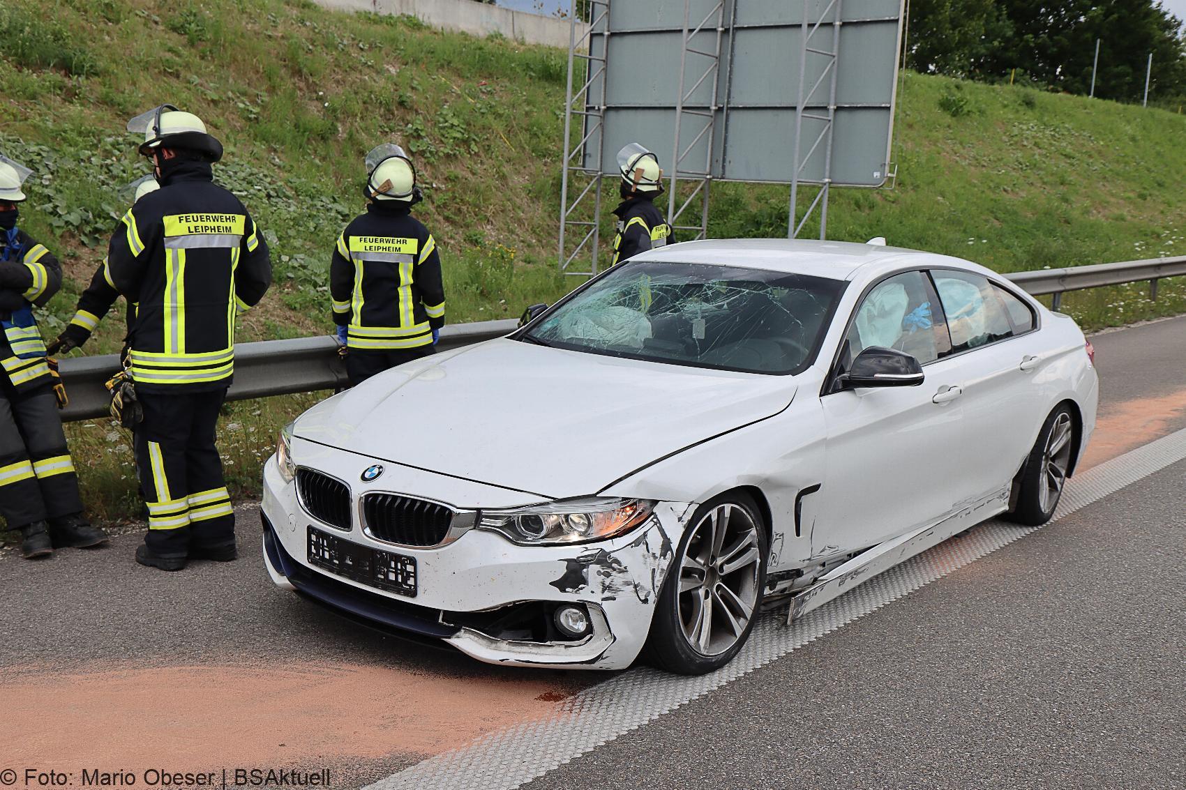 Unfall A8 Leipheim – Guenzburg 28072020 2