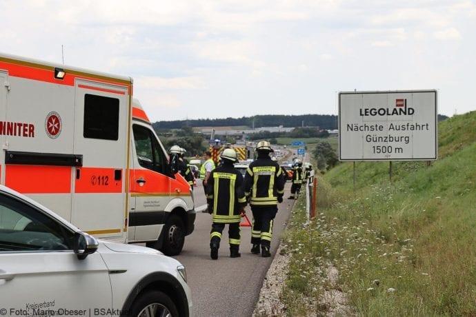 Unfall A8 Leipheim – Guenzburg 28072020 7