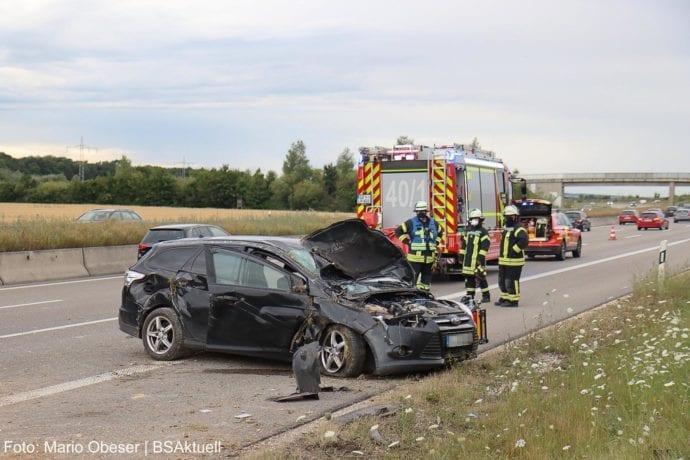Unfall A8 Leipheim-Kreuz Ulm-Elchingen 26072020 1