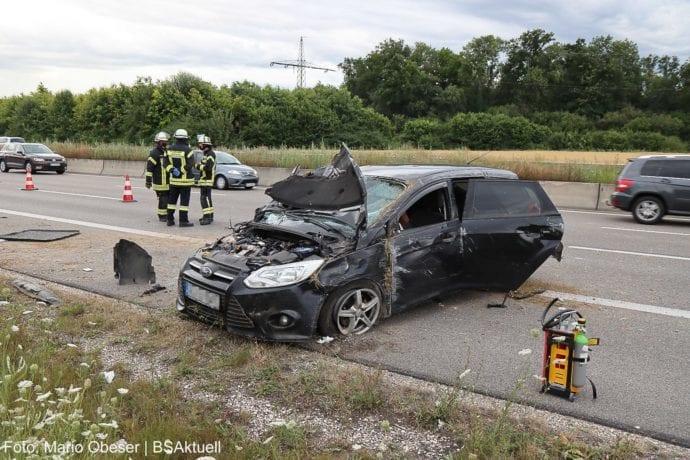 Unfall A8 Leipheim-Kreuz Ulm-Elchingen 26072020 2