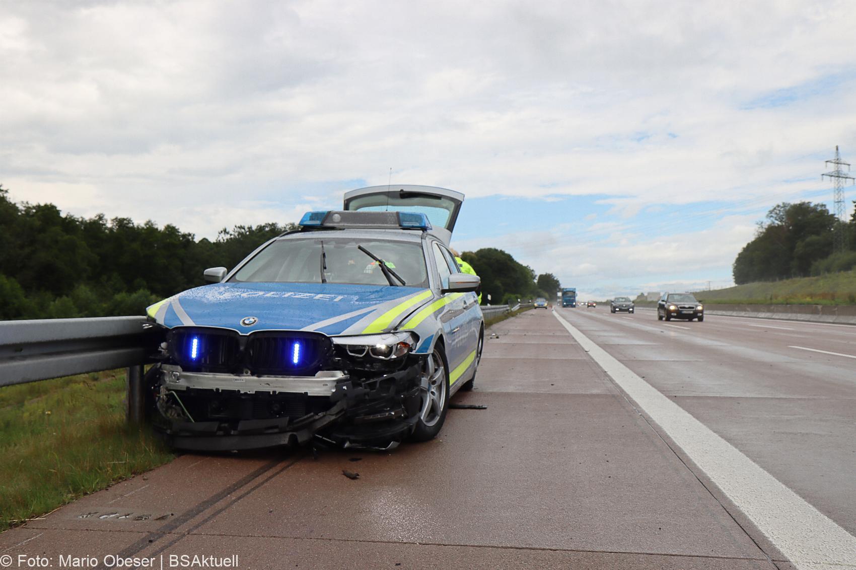 Unfall A8 Polizeifahrzeug Guenzburg Burgau 02072020 2