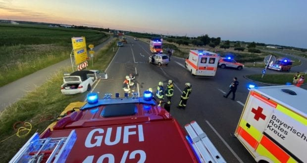 Unfall B16 Gundelfingen-Sued 12072020 2