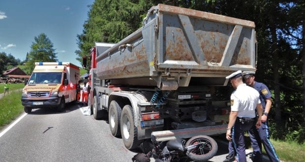 Unfall Motorrad Oberstaufen 01072020