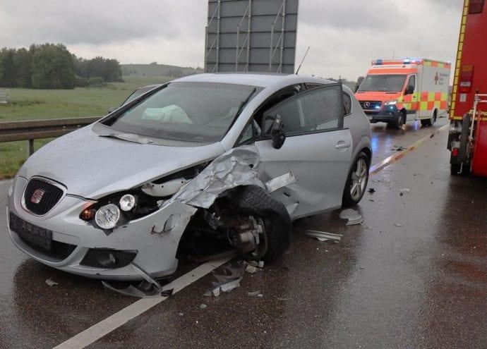 Unfall ST2025 Jettingen-Scheppach Roefingen Auffahrunfall 16072020 1