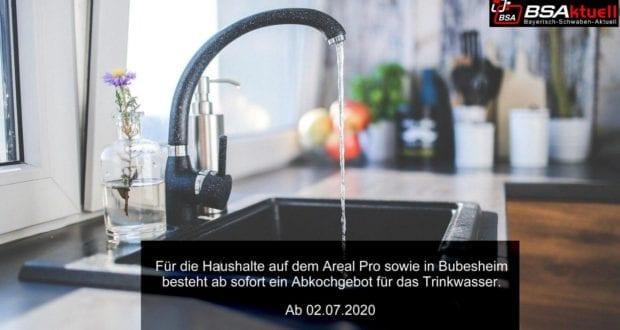 Wasserhahn Bubesheim Leipheim Abkochgebot