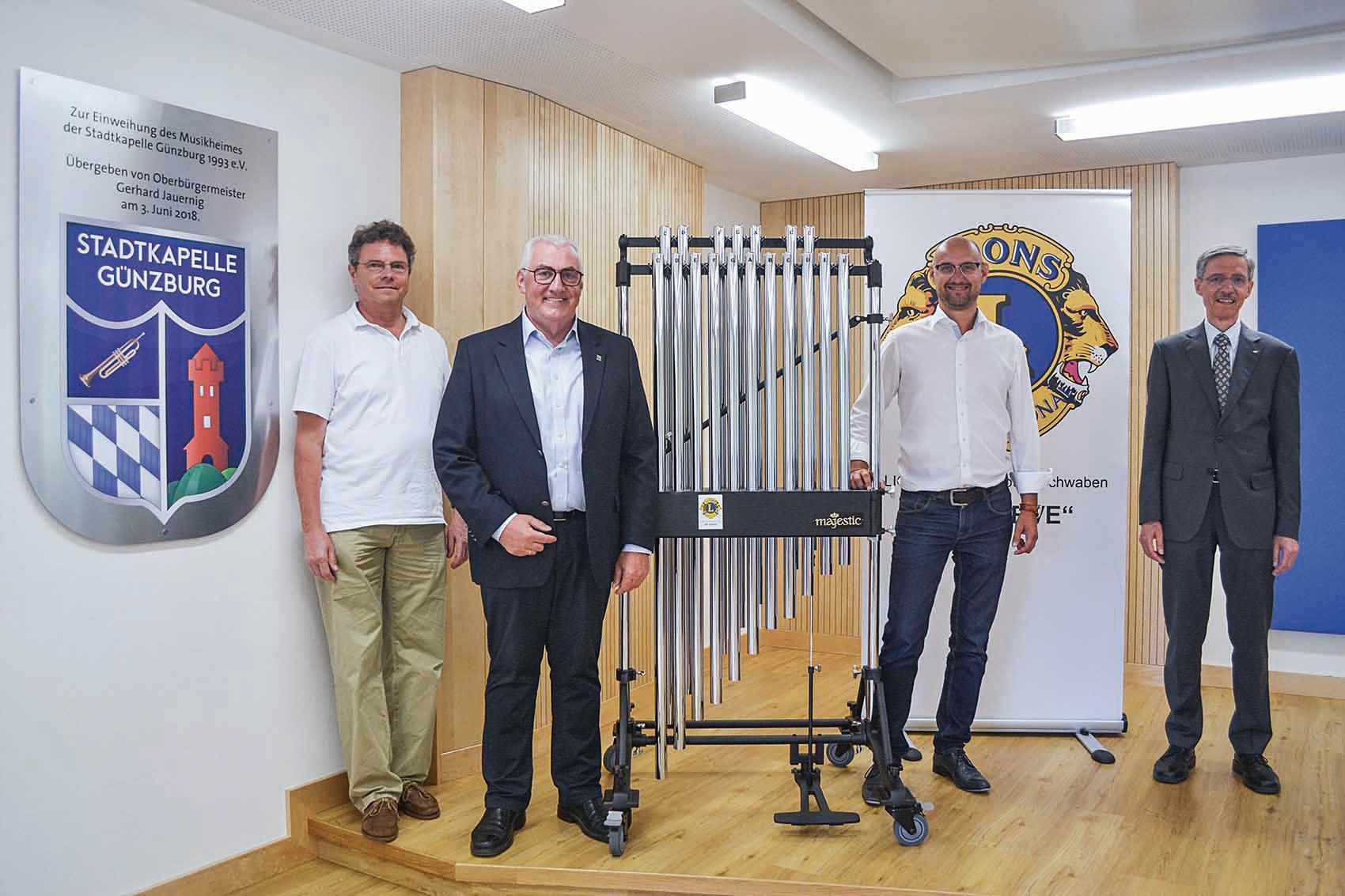 lions club guenzburg spende stadtkapelle guenzburg