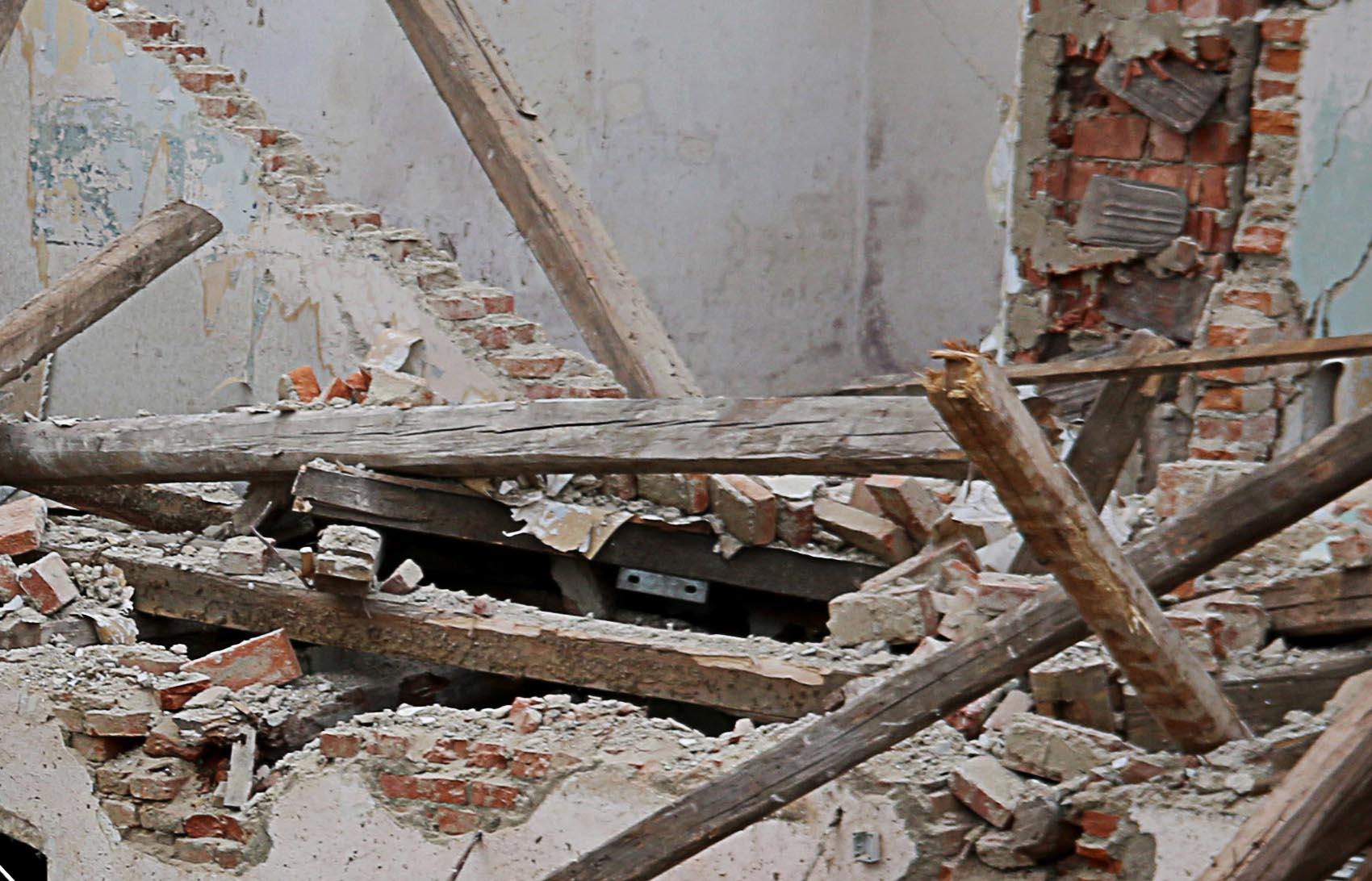 Einsturz Mauer Baustelle