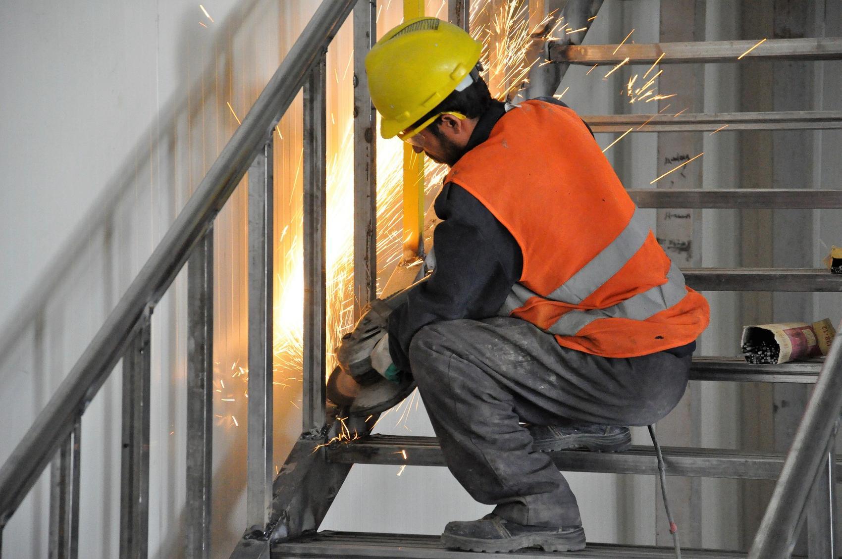 Flex Flexen Arbeiter Gelaender