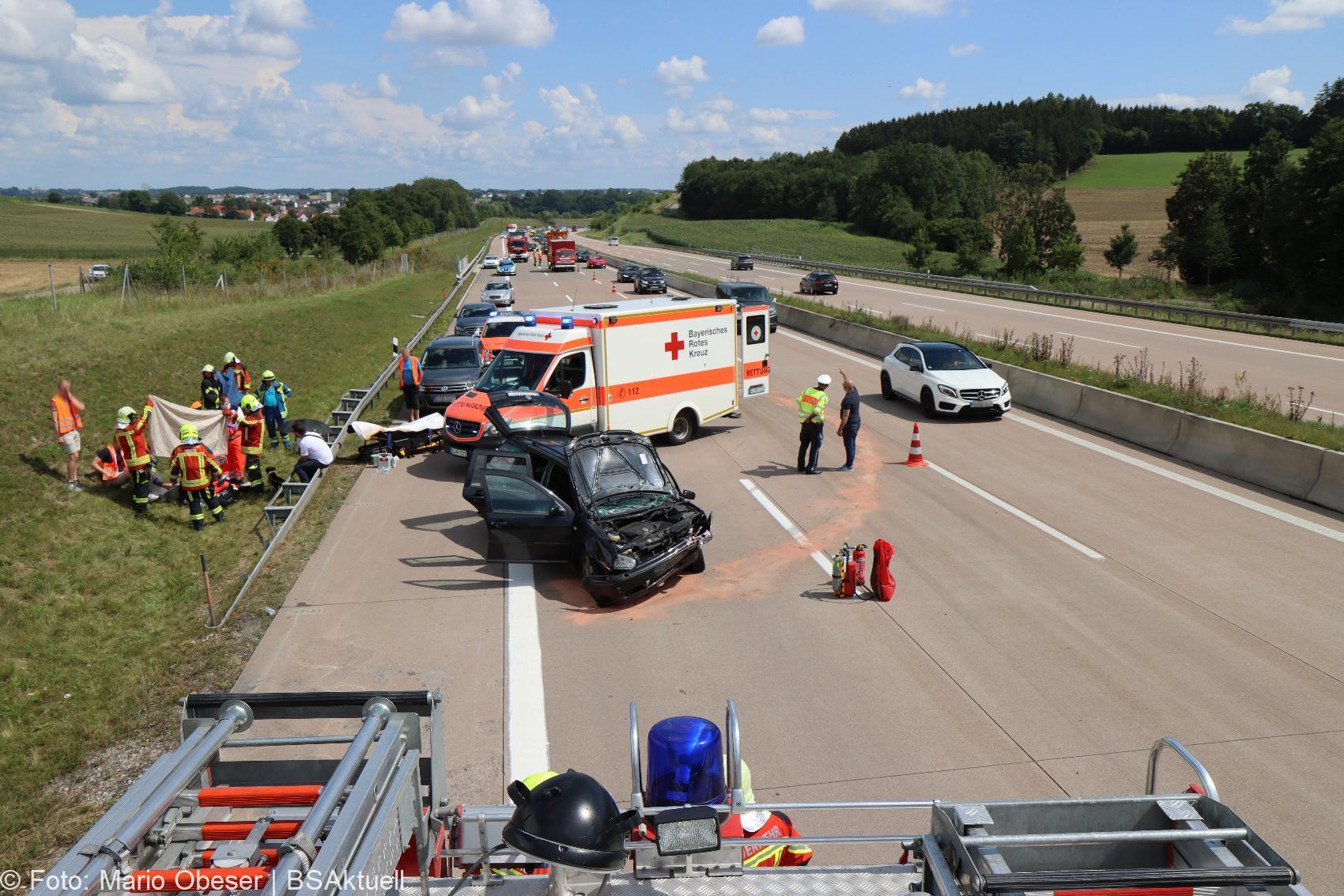 Unfall A8 Burgau – Guenzburg bei Grossanhausen 15082020 25