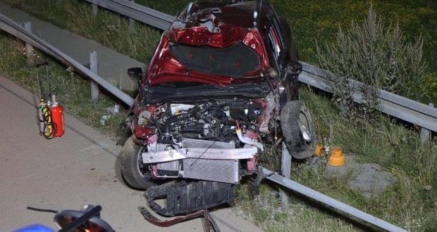 Unfall A8 Zusmarshausen Burgau Ueberschlagen 10082020 17