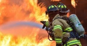 Feuerwehrmann Flammen
