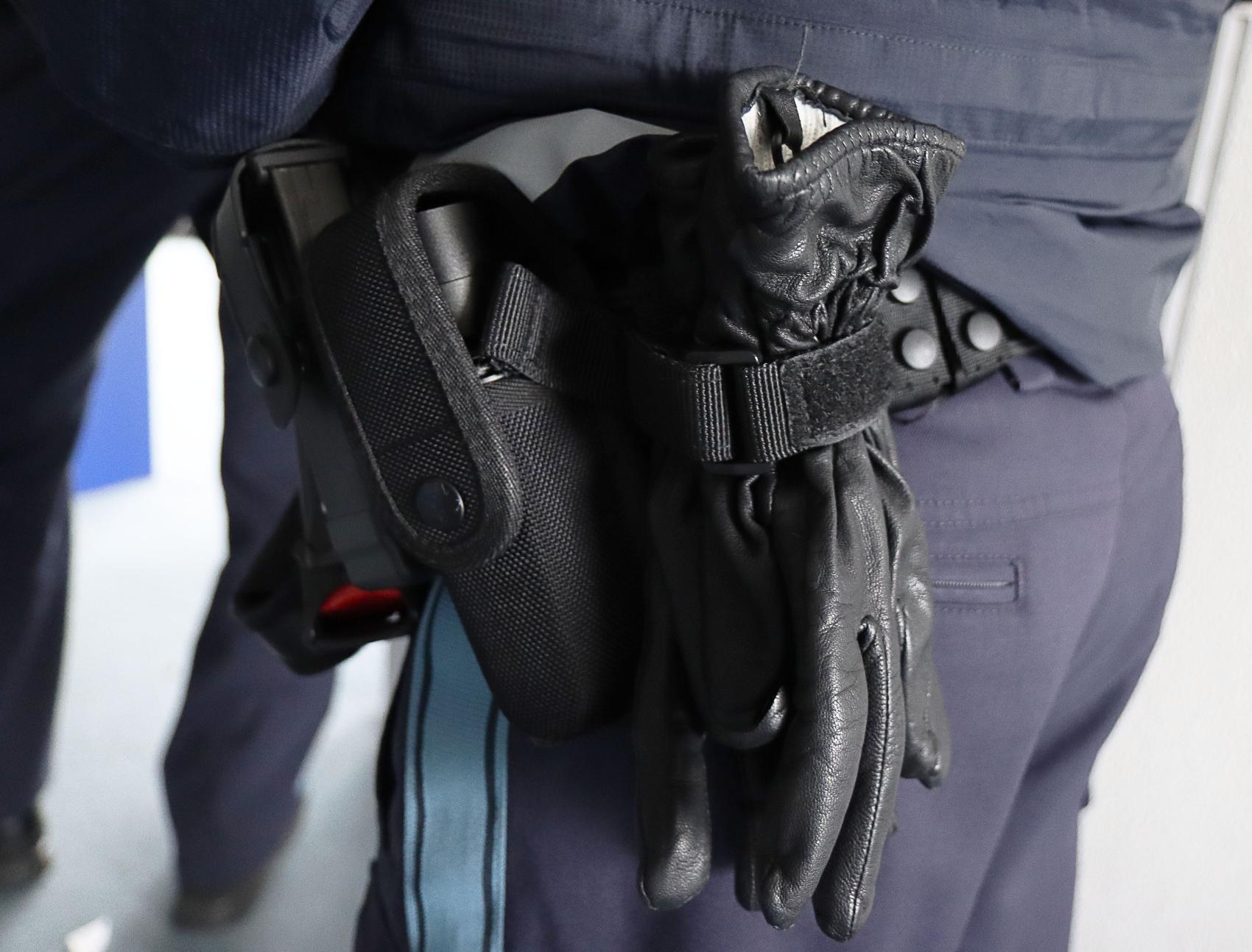 Polizei Handschuhe Polizeibeamter